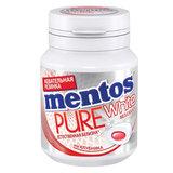 """Жевательная резинка MENTOS Pure White (Ментос) """"Клубника"""", 54 г, банка, 67842"""