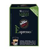 Капсулы для кофемашин NESPRESSO, Lungo Intenso, натуральный кофе, 10 шт. х 5 г, VERGNANO, 8001800005501