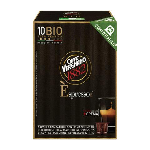 Капсулы для кофемашин NESPRESSO, Bio 100% Arabica, натуральный кофе, 10 шт. х 5 г, VERGNANO, 8001800005549