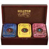 """Шкатулка HILLTOP """"Звездная коллекция"""", 3 чайницы с коллекцией чаев в деревянной шкатулке, 170 г, F203"""