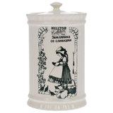 """Чай HILLTOP """"Земляника со сливками"""", черный листовой, 125 г, керамическая чайница, F103"""
