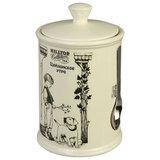"""Чай HILLTOP """"Цейлонское утро"""", черный листовой, 125 г, керамическая чайница с мерной ложкой, F105"""