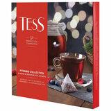 Чай TESS (Тесс), НАБОР 9 видов, 45 пирамидок, 82 г, картонная коробка, 1184-11