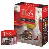 """Чай TESS (Тесс) """"Earl Grey"""", черный, с цедрой лимона, 100 пакетиков в конвертах по 1,8 г, 1251-09"""
