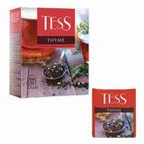 """Чай TESS (Тесс) """"Thyme"""", черный, чабрец и цедра лимона, 100 пакетиков в конвертах по 2 г, 1185-09"""