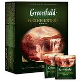 """Чай GREENFIELD (Гринфилд) """"English Edition"""", черный, 100 пакетиков по 2 г, 1383-09"""