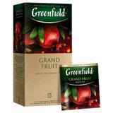 "Чай GREENFIELD (Гринфилд) ""Grand Fruit"", черный, гранат-розмарин, 25 пакетиков в конвертах по 1,5 г, 1387-10"