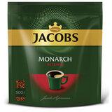 """Кофе растворимый JACOBS Monarch """"Intense"""", сублимированный, 500 г, мягкая упаковка, 8052114"""