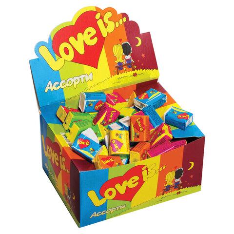 Жевательная резинка LOVE IS, ассорти вкусов, 4,2 г, 47149
