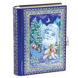 """Подарок новогодний """"Книга"""" с замочком, 800 г, НАБОР конфет, жестяная упаковка, G-164"""