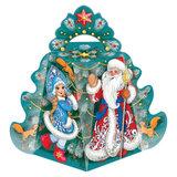 """Подарок новогодний """"Елка"""", 700 г, НАБОР конфет, картонная упаковка, УБ0418"""