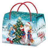 """Подарок новогодний """"Сумка Морозко"""", 800 г, НАБОР конфет, картонная упаковка, УБ0444Н"""