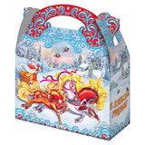 """Подарок новогодний """"Тройка"""", 1500 г, НАБОР конфет, картонная упаковка, УБ0407"""