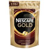 """Кофе молотый в растворимом NESCAFE (Нескафе) """"Gold"""", сублимированный, 130 г, мягкая упаковка, 12402924"""