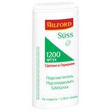 """Заменитель сахара MILFORD """"Suss"""" 1200 таблеток, пластиковая баночка с дозатором, 486102"""