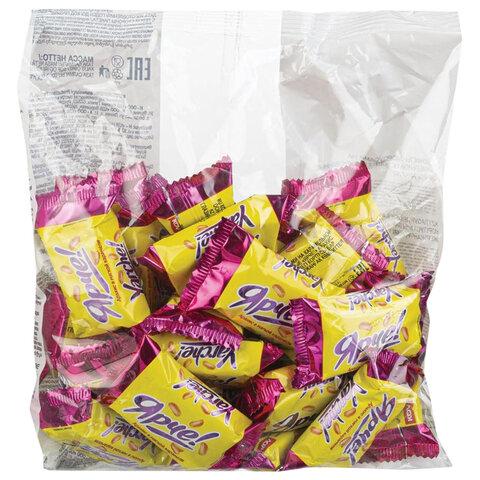 Конфеты шоколадные ЯРЧЕ! с арахисом и мягкой карамелью, 500 г, пакет, НК556