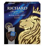 """Чай RICHARD """"Royal Earl Grey"""", черный с бергамотом, 100 пакетиков по 2 г, 610250"""