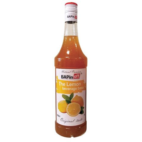 Основа для напитка лимонная BARINOFF, 1 л, стеклянная бутылка