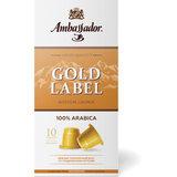 """Кофе в капсулах AMBASSADOR """"Gold Label"""", для кофемашин Nespresso, 10 шт. х 5 г"""