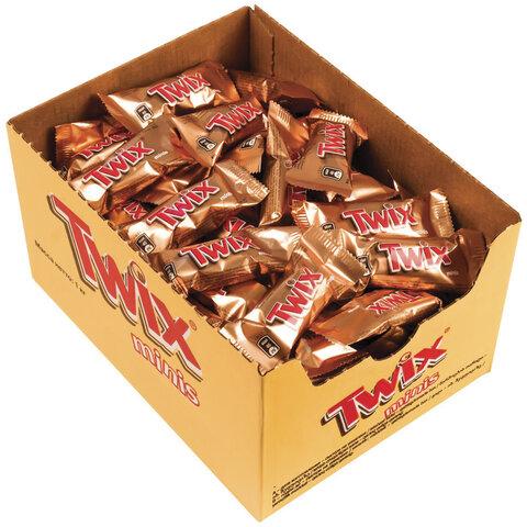 Конфеты шоколадные TWIX minis, весовые, 1 кг, картонная упаковка, 57237