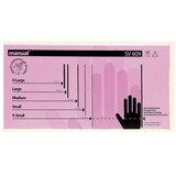 Перчатки виниловые смотровые, КОМПЛЕКТ 50 пар (100 шт.), неопудренные, нестерильные, S, MANUAL SV609, SV609-01