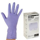 Перчатки нитриловые смотровые, КОМПЛЕКТ 50 пар (100 шт.), повышенная прочность, S, MANUAL RN709, RN709-01