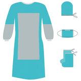 Комплект одноразовой одежды для хирурга КХ-02 с усиленной защитой ГЕКСА стерильный, 4 предмета