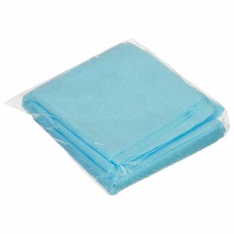 Простыни одноразовые ГЕКСА нестерильные, комплект 10 шт., 70х140 см, спанбонд ламинированный 40 г/м2, голубые
