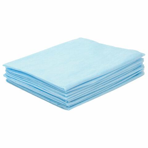 Простыни одноразовые ГЕКСА нестерильные, комплект 10 шт., 80х200 см, спанбонд 25 г/м2, голубые