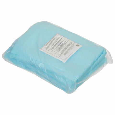 Простыни одноразовые ГЕКСА нестерильные, комплект 5 шт. 140х200 см, спанбонд 25 г/м2, голубые