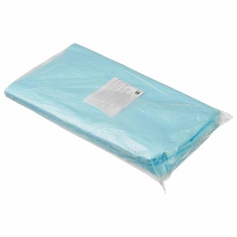 Простыни одноразовые ГЕКСА нестерильные, комплект 20 шт. 70х80 см, спанбонд ламинированный 40 г/м2, голубые