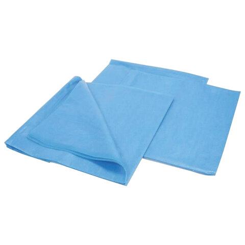 Комплект постельного белья одноразовый КХ-19 ГЕКСА нестерильный, 3 предмета, 25 г/м2, голубой