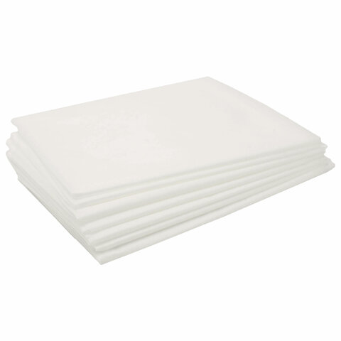 Простыни одноразовые ЧИСТОВЬЕ нестерильные, КОМПЛЕКТ 20 шт., 80х200 см, СМС 18 г/м2, белые, 02-912