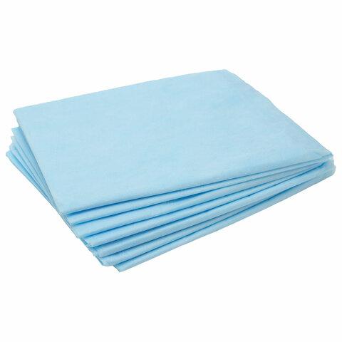 Простыни одноразовые ЧИСТОВЬЕ нестерильные, комплект 20 шт., 80х200 см, СМС 18 г/м2, голубые, 02-921
