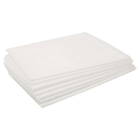 Простыни одноразовые ЧИСТОВЬЕ нестерильные, комплект 50 шт., 80х100 см, СМС 14 г/м2, белые, 00-976