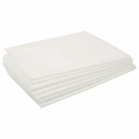 Простыни одноразовые ЧИСТОВЬЕ нестерильные, КОМПЛЕКТ 20 шт., 90х200 см, СМС 14 г/м<sup>2</sup>, белые, 02-893
