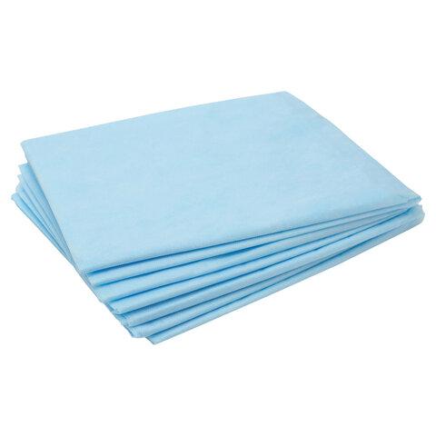 Простыни одноразовые ЧИСТОВЬЕ нестерильные, КОМПЛЕКТ 50 шт., 80х100 см, СМС 14 г/м2, голубые, 00-975
