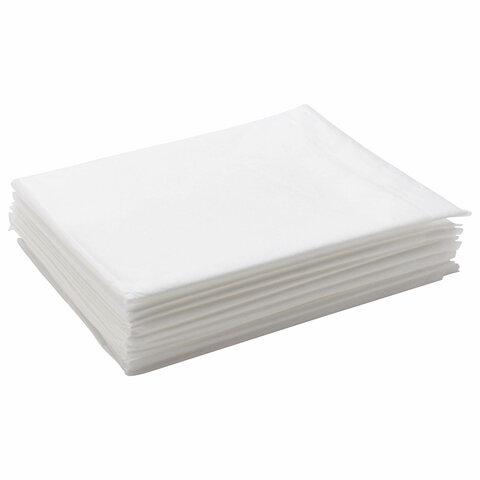 Простыни одноразовые ЧИСТОВЬЕ нестерильные, комплект 10 шт., 70х200 см, спанбонд ламинированный 42 г/м<sup>2</sup>, белые, 02-196