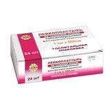 Лейкопластырь медицинский фиксирующий в рулоне LEIKO комплект 24 шт., 1х500 см, на тканевой основе, белого цвета, госпитальная упаковка, 531231