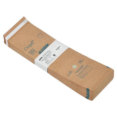 Пакет крафт самоклеящийся ВИНАР СТЕРИТ, комплект 100 шт., для ПАРОВОЙ/ВОЗДУШНОЙ стерилизации, 100х320 мм, 38