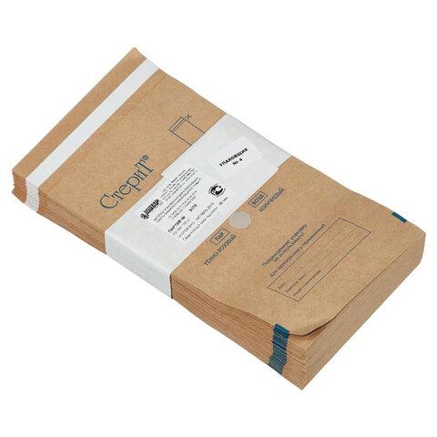 Пакет крафт самоклеящийся ВИНАР СТЕРИТ, комплект 100 шт., для ПАРОВОЙ/ВОЗДУШНОЙ стерилизации, 115х200 мм