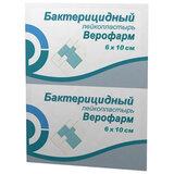 Лейкопластырь бактерицидный ВЕРОФАРМ, полоска 6х10 см, тканевая основа, 20024106