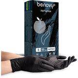 Перчатки нитриловые смотровые КОМПЛЕКТ 50 пар (100 шт.), размер S (малый), черные, BENOVY Nitrile MultiColor