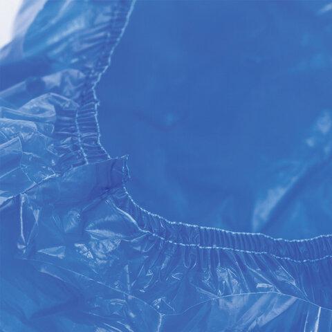 Бахилы КОМПЛЕКТ 600шт. (300пар), СВЕРХПРОЧНЫЕ, двойная резинка, 39х14см, 100мкм, 10г, ЛАЙМА, 630719