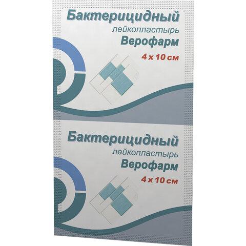 Лейкопластырь бактерицидный ВЕРОФАРМ, полоска 4х10 см, тканевая основа, 20024092