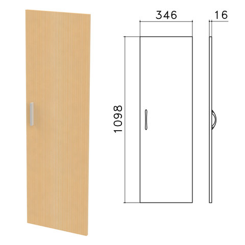 Дверь ЛДСП средняя