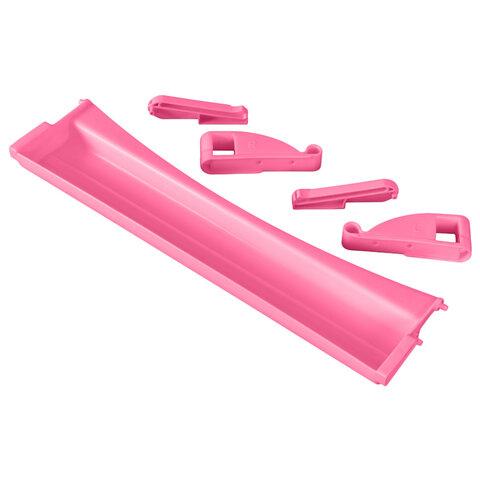 Полка-органайзер выдвижная ДЭМИ, 1 отделение, пластик, розовая, 30х420х110 мм, ОКП.06