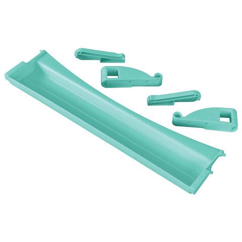 Полка-органайзер выдвижная ДЭМИ, 1 отделение, пластик, аквамарин, 30х420х110 мм, ОКП.06