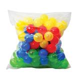 """Шары пластиковые для сухого бассейна, 100 шт., диаметр 65 мм, цветные, """"Десятое королевство"""", 00915"""