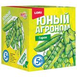 """Набор для выращивания растений ЮНЫЙ АГРОНОМ """"Горох"""", горшок, грунт, семена, LORI, Р-009"""